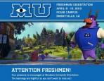 Monsters University Freshman Orientation
