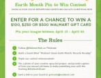 Walmart Pin it to Win it Earth Month