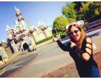 Selfie at Sleeping Beauty's Castle