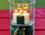 Faux Floating Candle Centerpiece