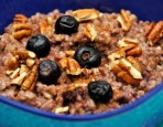 Slow Cooker Blueberries and Cream Steel Cut Oatmeal Recipe