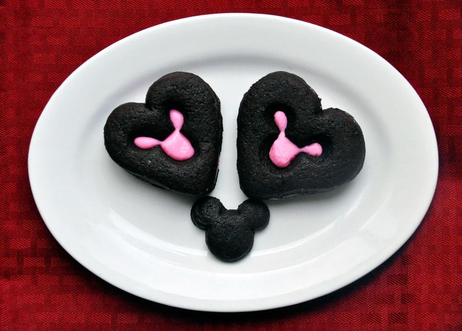 Mickey Mouse Chocolate Heart Sandwich Cookies - Rockin Mama™
