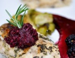 Grilled Chicken With Blackberry Rosemary Cabernet Glaze