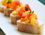 Peach and Goat Cheese Bruschetta