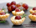 Roasted Grape, Walnut and Mascarpone Tart Recipe
