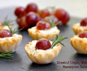 Roasted Grape, Walnut and Mascarpone Tart Recipe