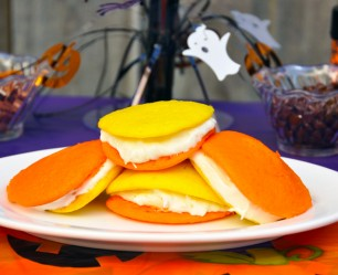Candy Corn-Inspired Whoopie Pies