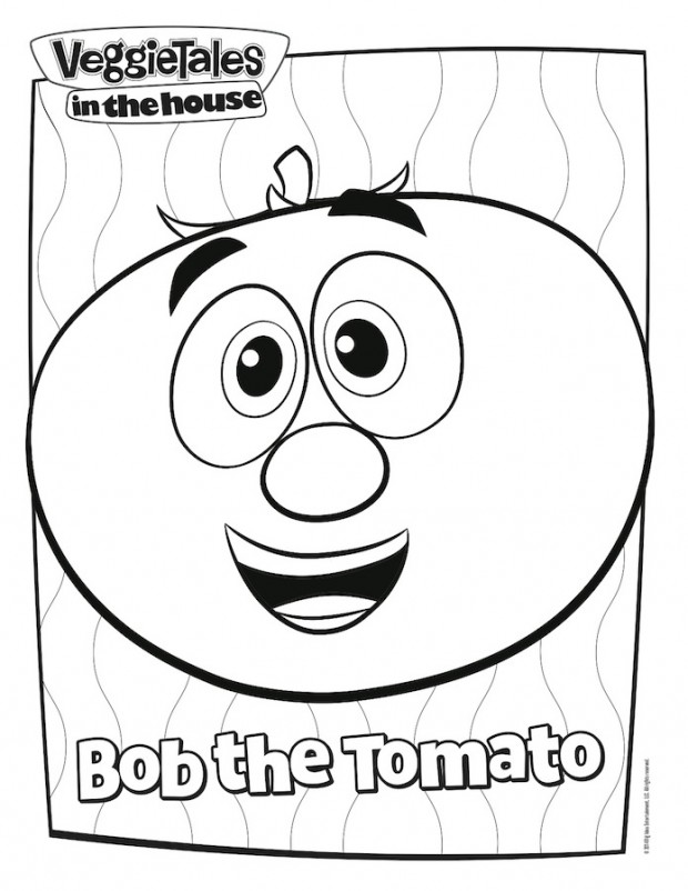 larry the cucumber coloring page Bible Coloring Pages  Bob And Larry Coloring Pages
