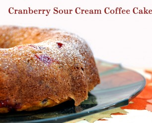 Cranberry Sour Cream Coffee Cake