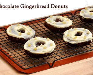 Chocolate Gingerbread Donuts