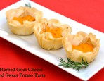 Herbed Goat Cheese and Sweet Potato Tarts