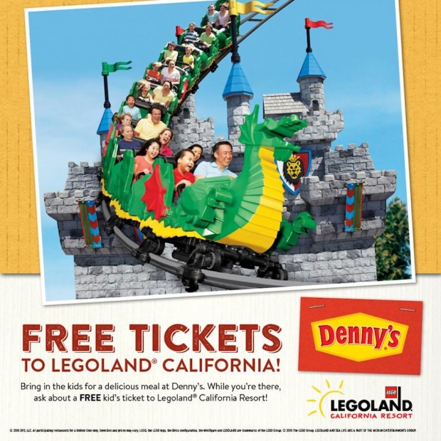 Legoland California: Get 30% off admission for up to six people to LEGOLAND California, LEGOLAND Florida, The San Francisco Dungeon, or any LEGOLAND Discovery Center, Madame Tussauds, or SEA LIFE Aquarium in the U.S. or Canada.