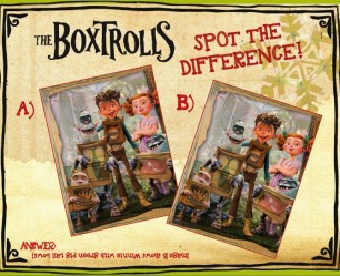 The Boxtrolls Spot the Difference
