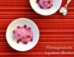 Pomegranate Lychee Sorbet