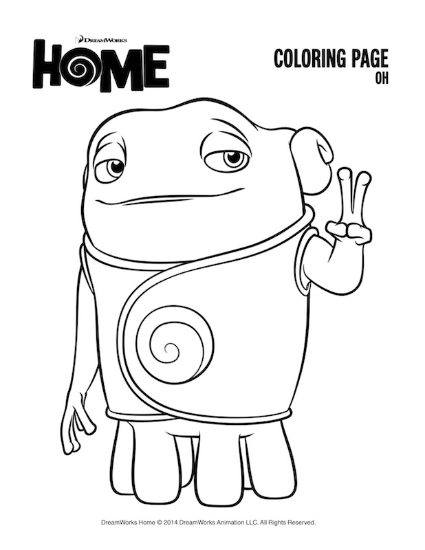 freemovie coloring pages | DreamWorks Home Printables + a Giveaway!