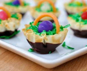 Easter Basket Phyllo Cups