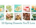 Springtime Baking Recipes