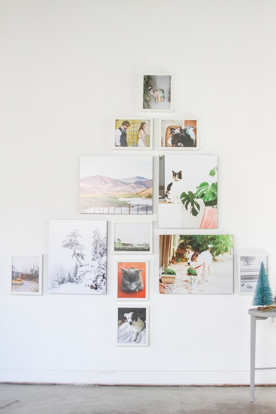 3 diy holiday projects you can do in 1 hour rockin mama - Diy christmas tree on wall ...