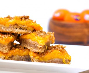 Pecan Crusted Orange Bars