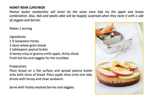 Honey Bear Lunchbox