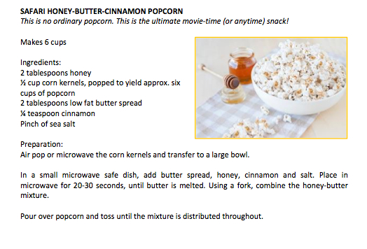 Safari Honey Butter Cinnamon Popcorn