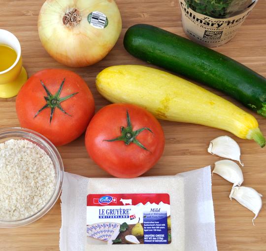 Vegetable Tian Ingredients